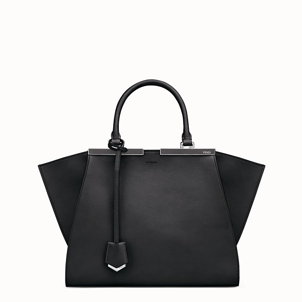 FENDI 3JOURS - shopping bag in black leather - view 1 small thumbnail
