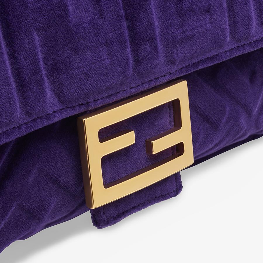 FENDI BAGUETTE - Purple velvet bag - view 5 detail