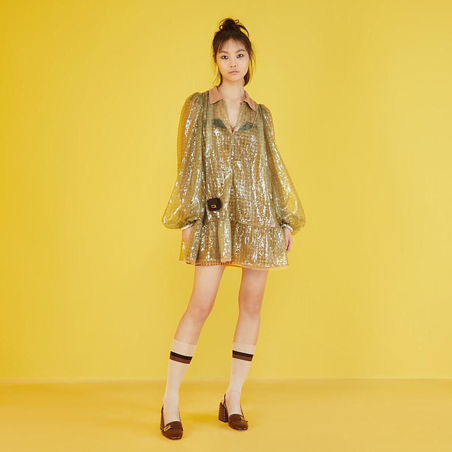 FENDI KLEID - Kleid mit Pailletten mit Vichykaros - view 4 detail