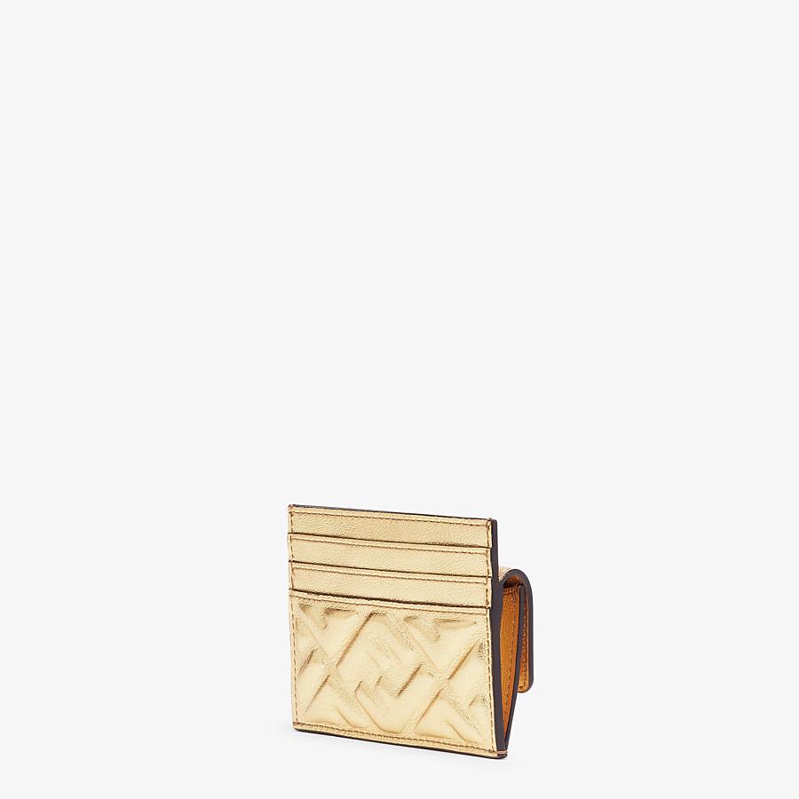 FENDI CARD HOLDER - Gold leather card holder - view 2 detail