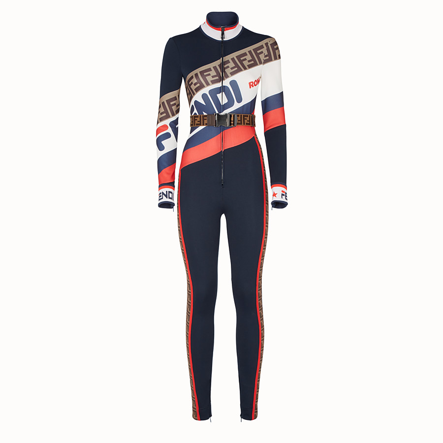 FENDI JUMPSUIT - Multicolour jersey jumpsuit - view 1 detail