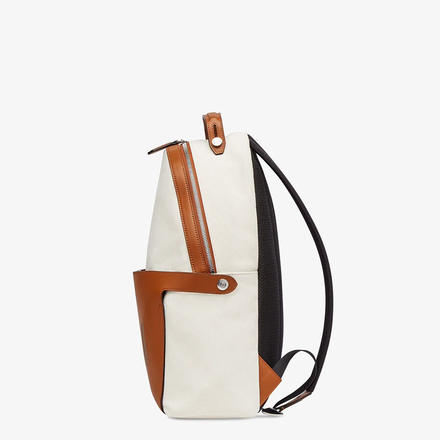 FENDI ESSENTIAL BACKPACK - Undyed canvas backpack - view 3 detail