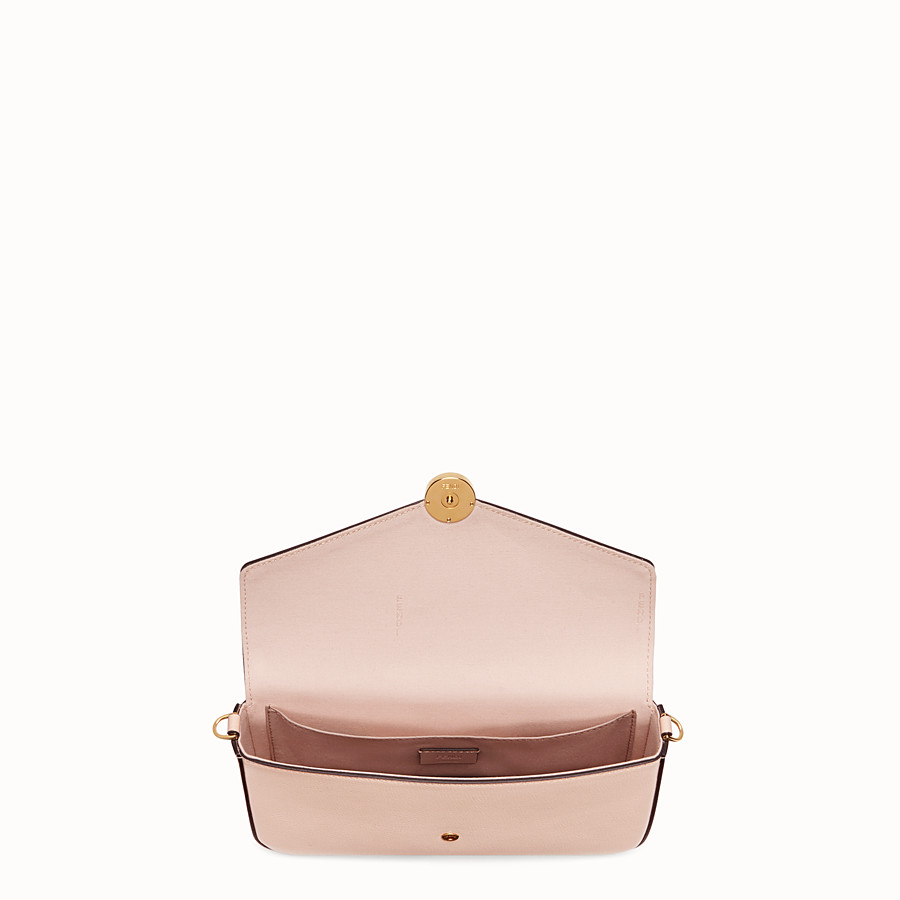 FENDI WALLET ON CHAIN WITH POUCHES - Pink leather minibag - view 6 detail