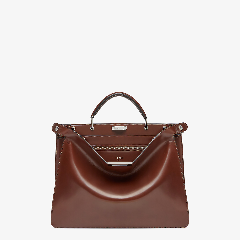 FENDI PEEKABOO ISEEU MEDIUM - Brown leather bag - view 1 detail