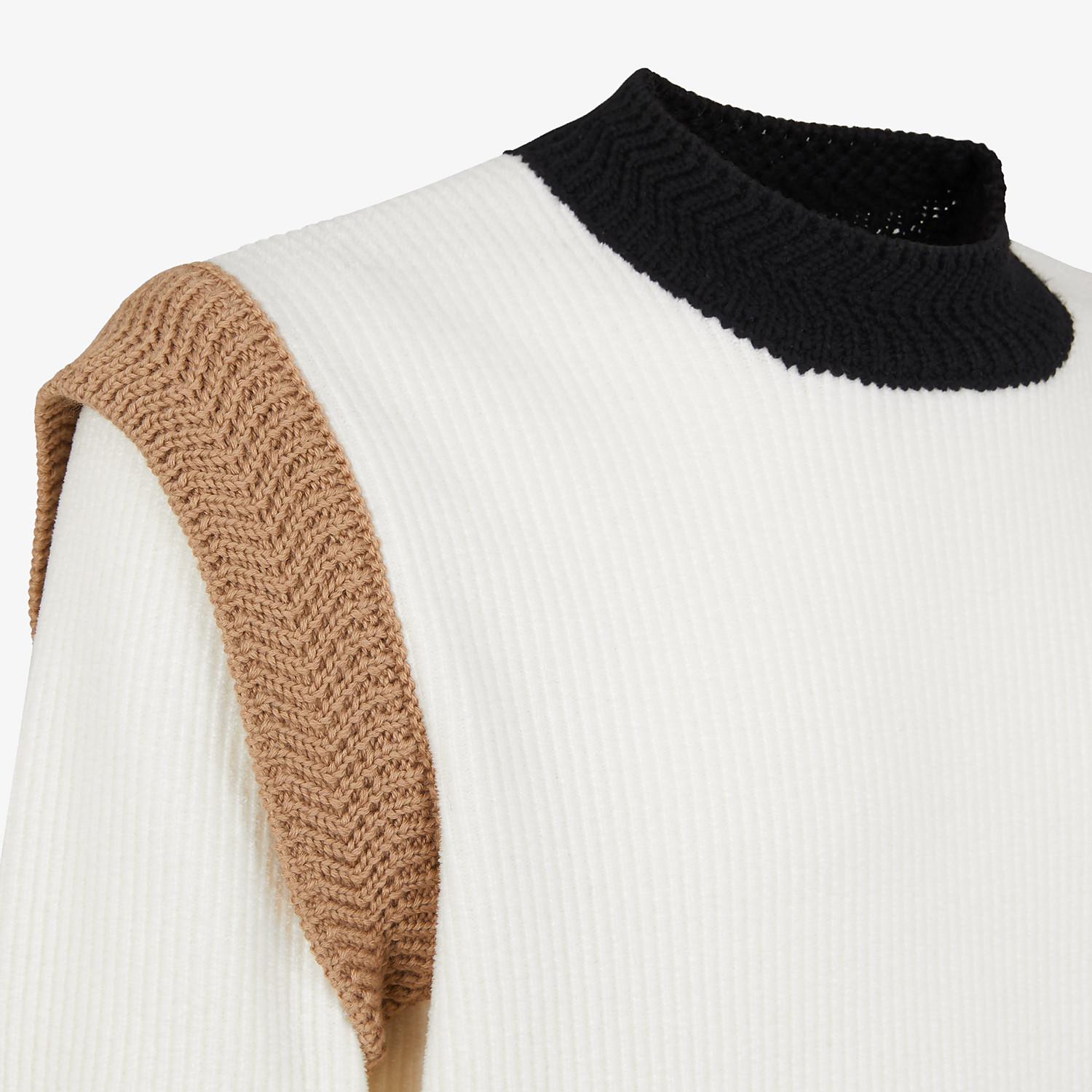 FENDI SWEATER - White chenille sweater - view 3 detail