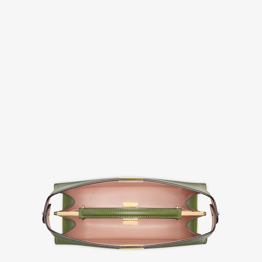 FENDI PEEKABOO ISEEU EAST-WEST - Green leather bag - view 5 detail