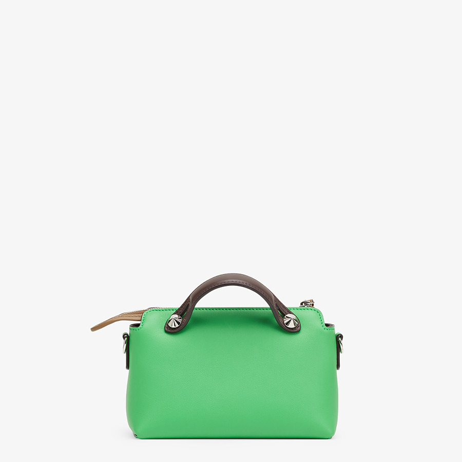 FENDI BY THE WAY MINI - Green leather small Boston bag - view 4 detail