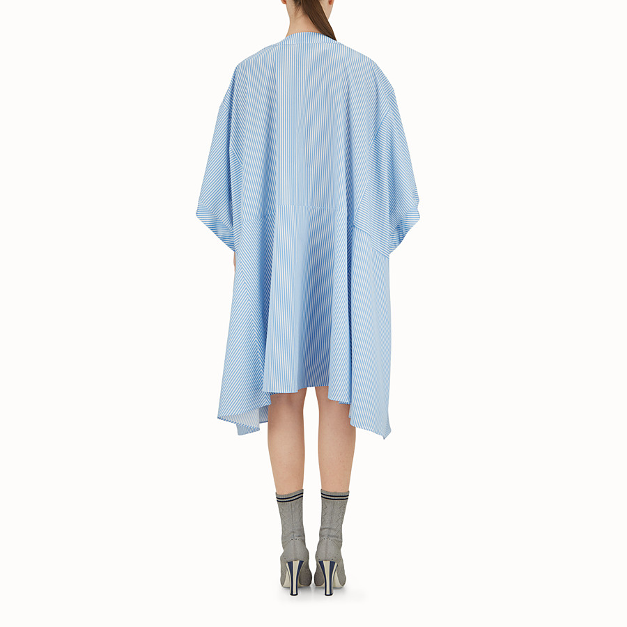 FENDI ROBE KIMONO - Robe en coton bleu clair - view 3 detail