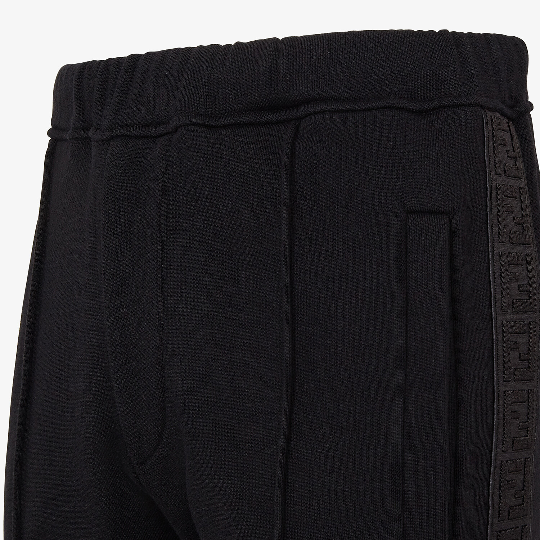FENDI PANTALONE - Pantalone in cotone nero - vista 3 dettaglio