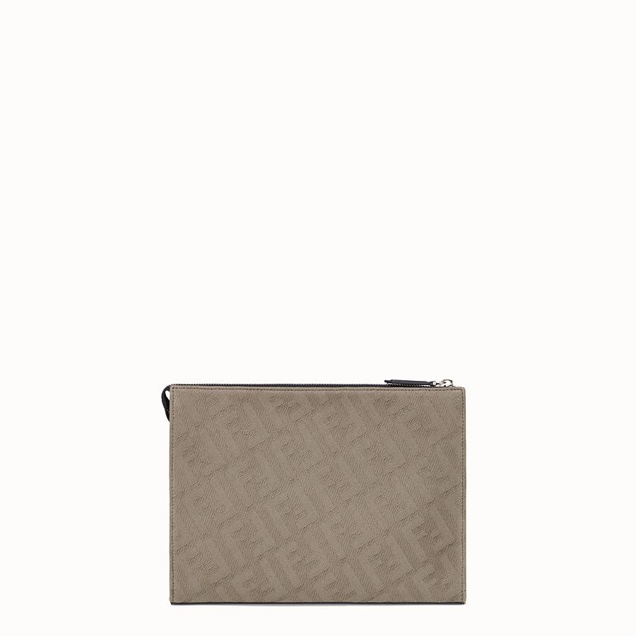 FENDI CLUTCH - Pochette in canvas marrone - vista 3 dettaglio