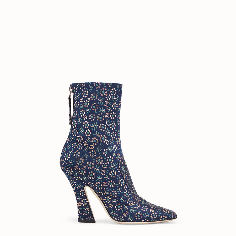 FENDI ANKLE BOOTS - Multicolour fabric booties - view 1 detail