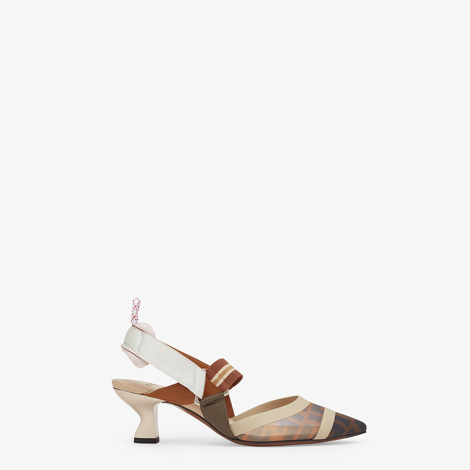 FENDI SLINGBACK - Multicolour technical-mesh colibrì - view 1 detail