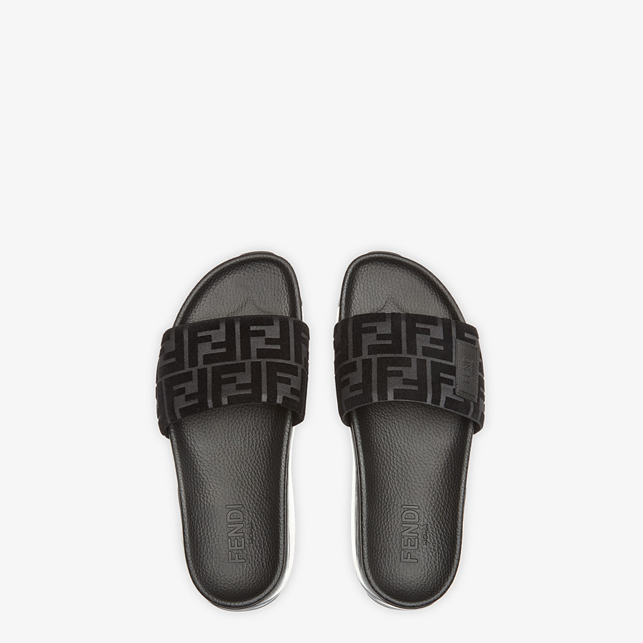 FENDI SANDALS - Fendi slides for Jackson Wang in PU and Lycra® - view 4 detail