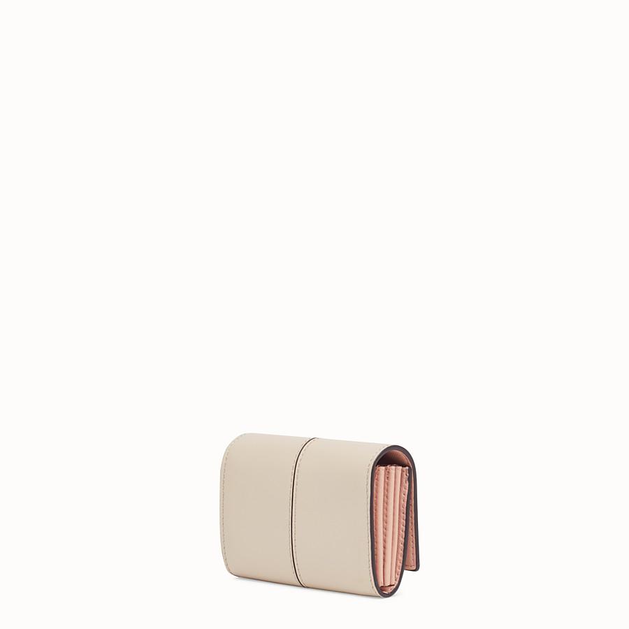 FENDI PORTACARTE - Porta carte in pelle beige - vista 2 dettaglio