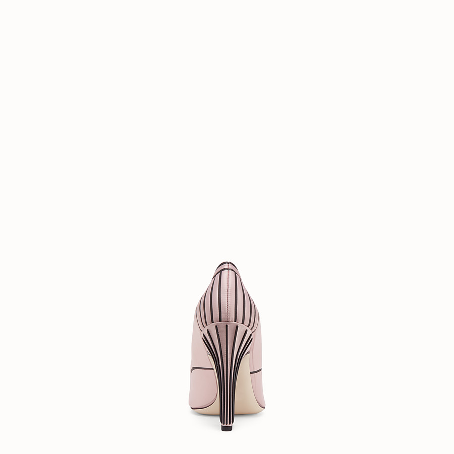 FENDI PUMPS - Pink satin pumps - view 3 detail