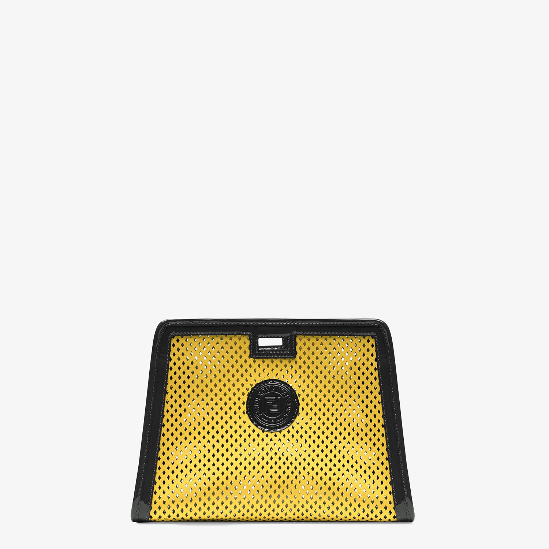 FENDI SMALL PEEKABOO DEFENDER - Yellow leather Peekaboo cover - view 1 detail