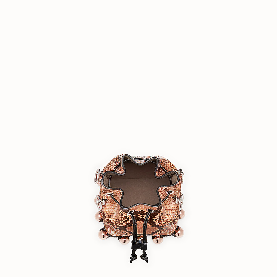 FENDI MON TRESOR - Pink python mini-bag - view 4 detail