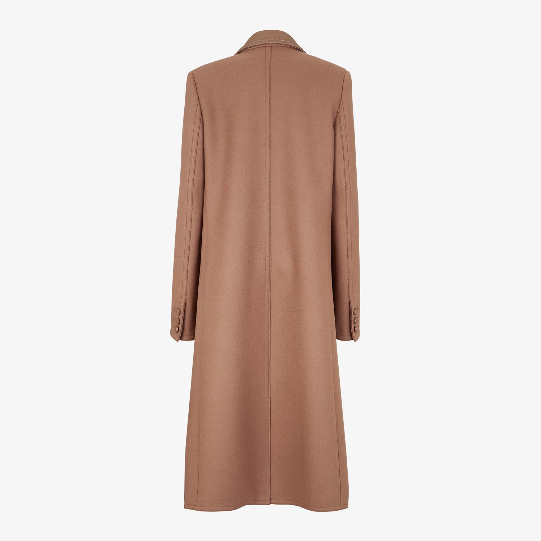 FENDI COAT - Brown wool coat - view 2 detail