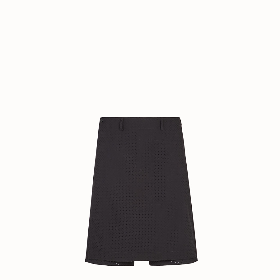 FENDI TROUSERS - Black wool bermudas - view 1 detail