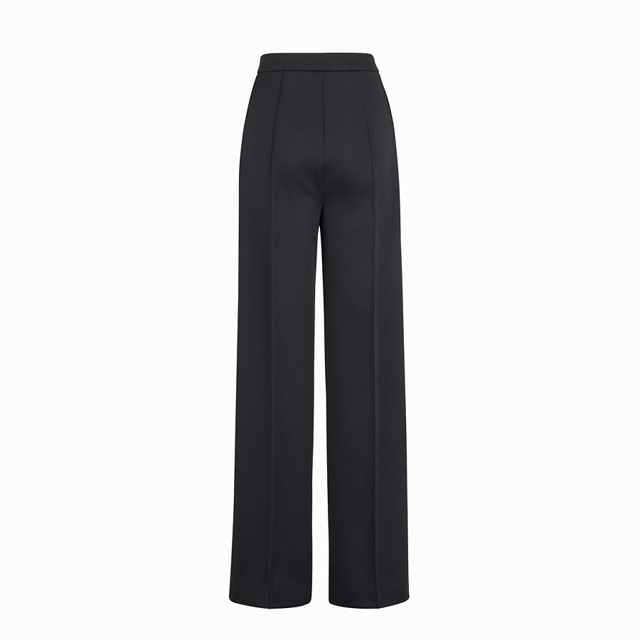 FENDI PANTALON - Pantalon en jersey noir - view 2 detail