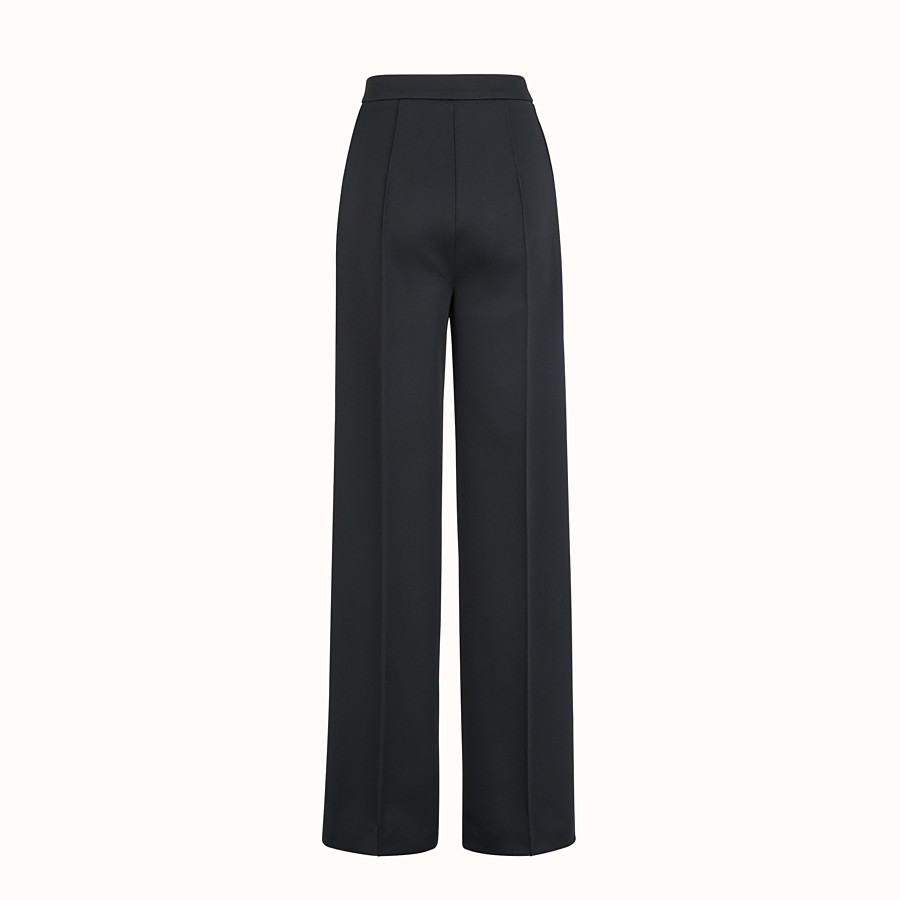 FENDI TROUSERS - Black jersey trousers - view 2 detail