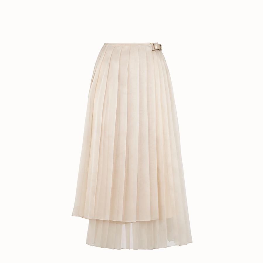 FENDI SKIRT - Beige organza skirt - view 1 detail