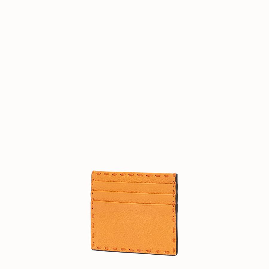 FENDI PORTACARTE - Portatessere in pelle arancione - vista 2 dettaglio