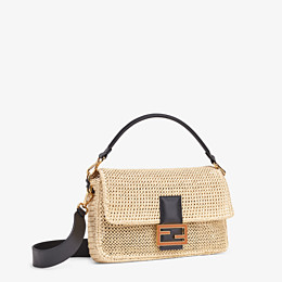 FENDI BAGUETTE LARGE - Sac en paille naturelle - view 3 thumbnail