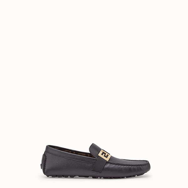 FENDI LOAFERS - Black leather drivers - view 1 small thumbnail