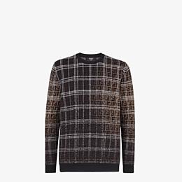 FENDI PULLOVER - Brown wool jumper - view 1 thumbnail
