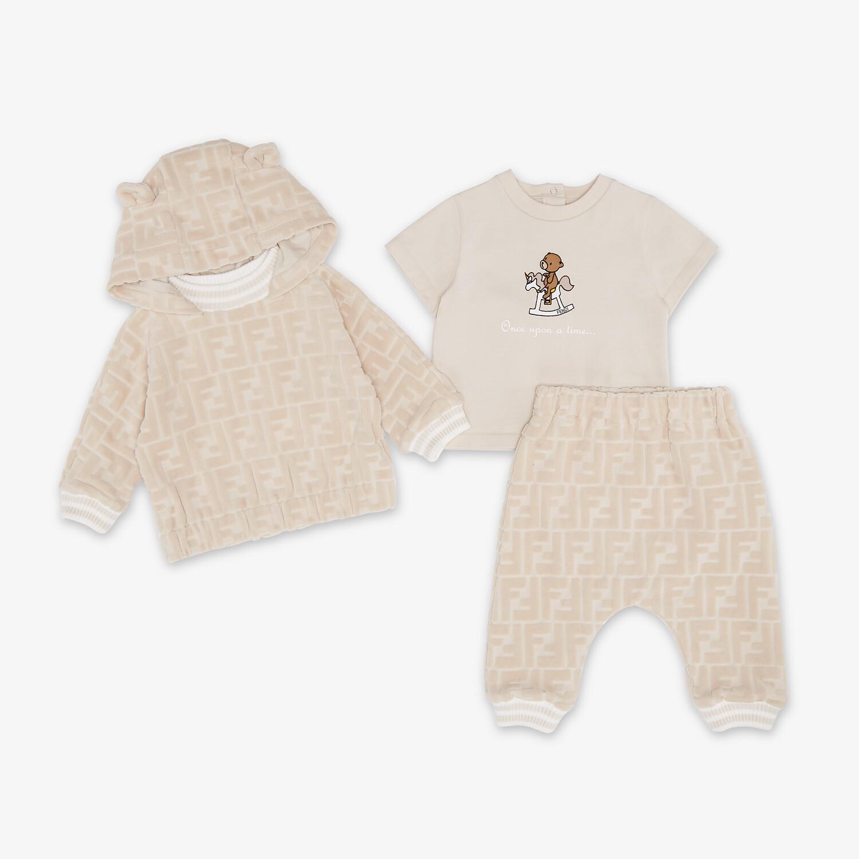 FENDI BABY SWEATSHIRT - Beige chenille baby sweatshirt - view 4 detail