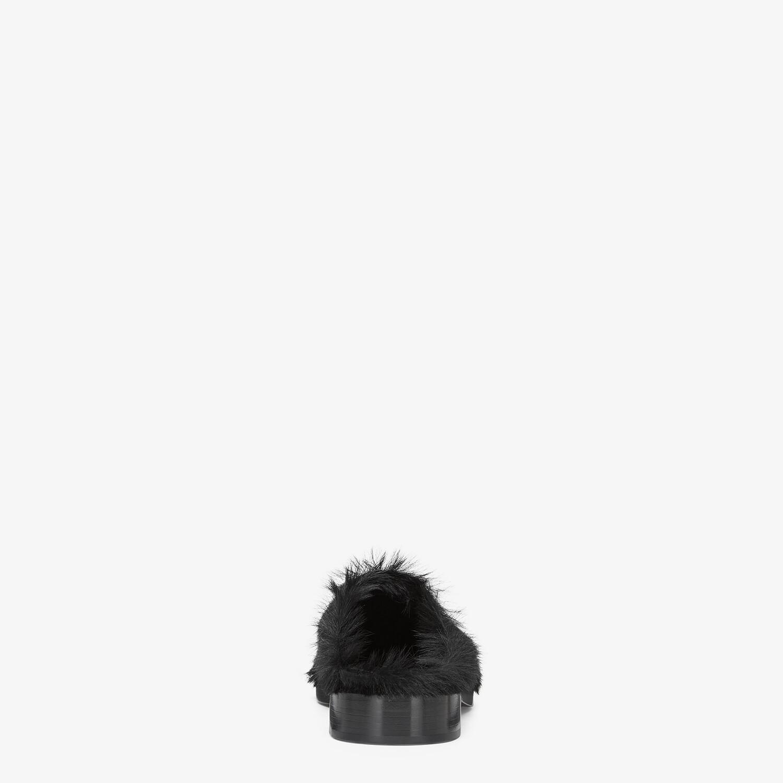 FENDI SABOT - Black pony hair sabots - view 3 detail