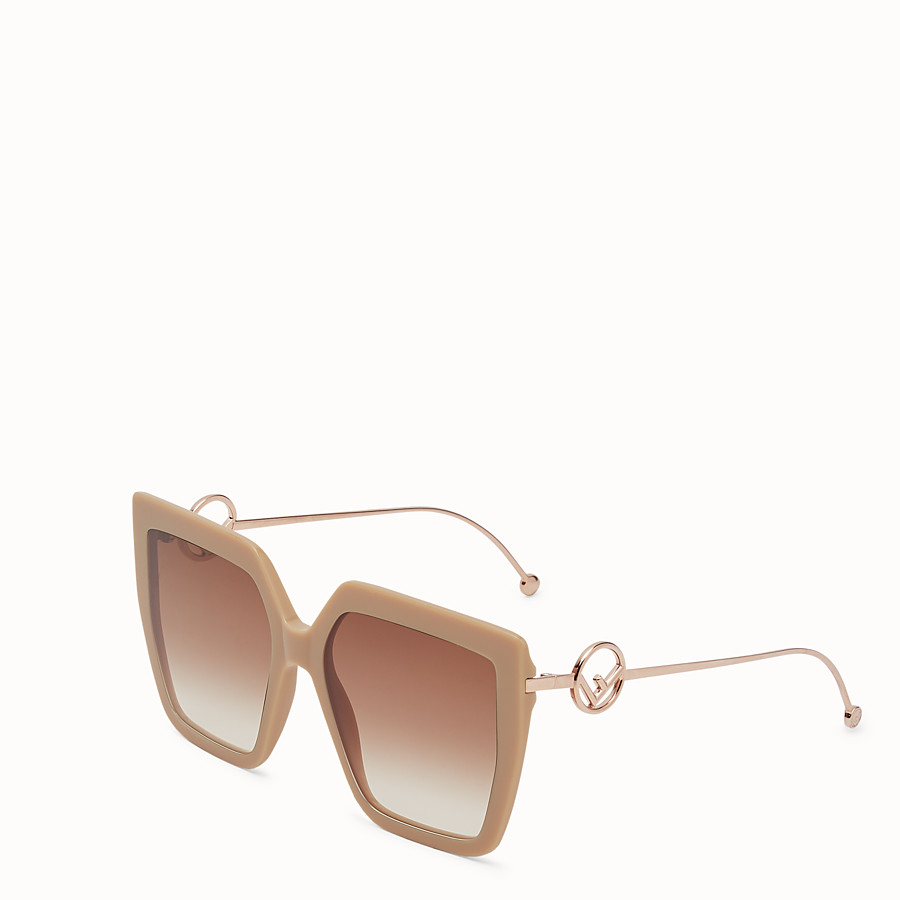 FENDI F IS FENDI - Beige acetate and metal sunglasses - view 2 detail