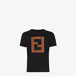 FENDI T-SHIRT - T-Shirt aus schwarzer Baumwolle - view 1 thumbnail