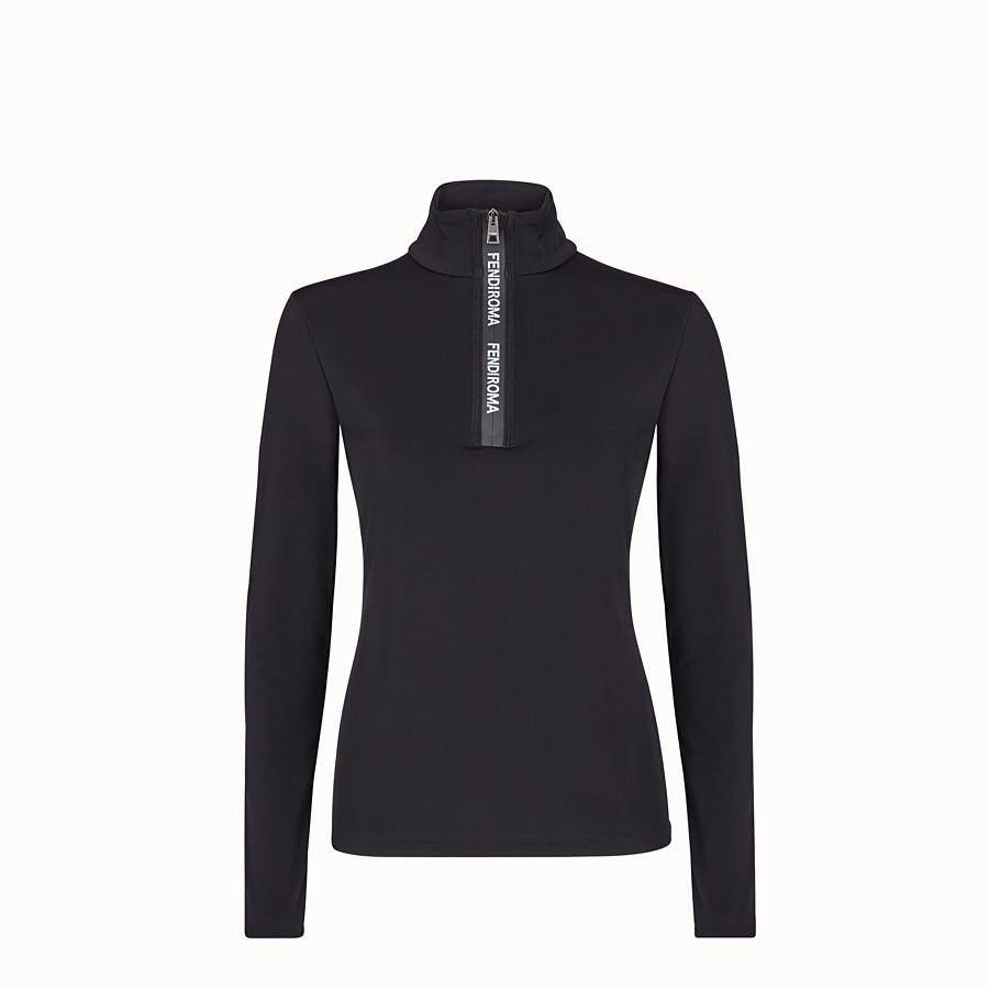 FENDI JUMPER - Black tech jersey jumper - view 1 detail