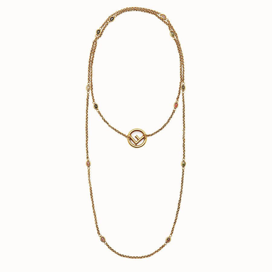 FENDI F IS FENDI NECKLACE - Gold-colour necklace - view 1 detail