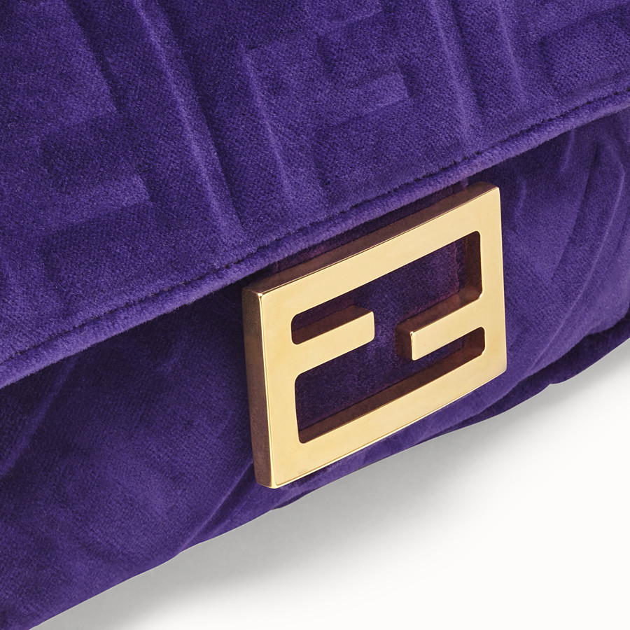 FENDI MINI BAGUETTE - Purple velvet bag - view 5 detail