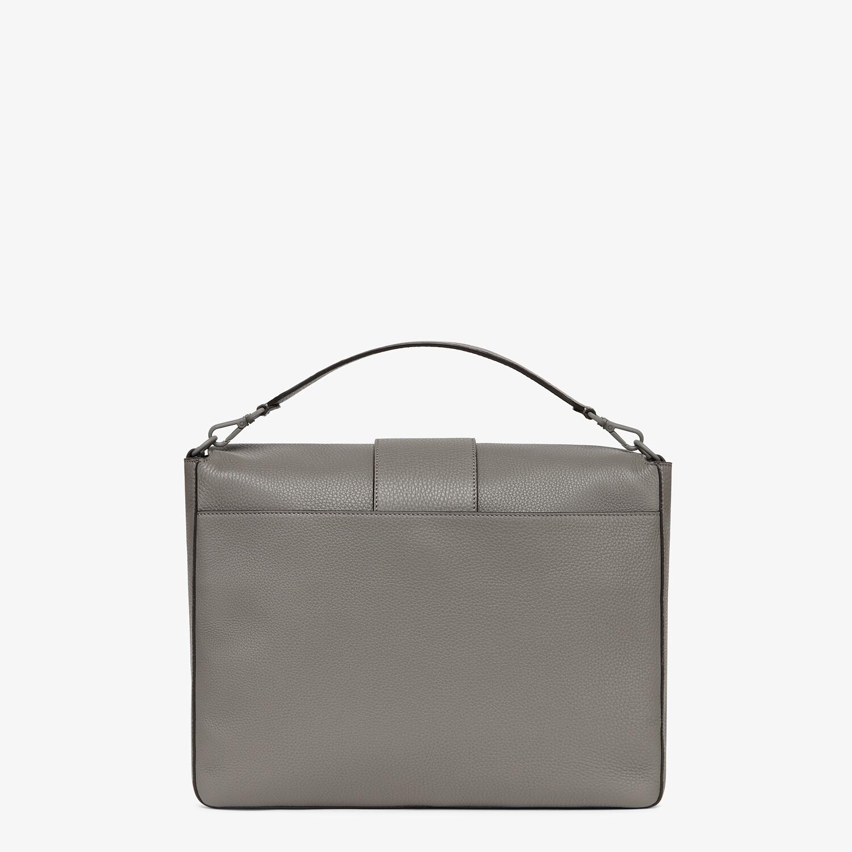 FENDI BAGUETTE MESSENGER BAG LARGE - Light gray leather bag - view 3 detail