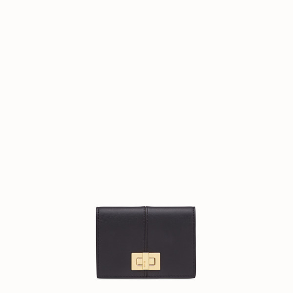 FENDI CARD HOLDER - Black leather wallet - view 1 small thumbnail