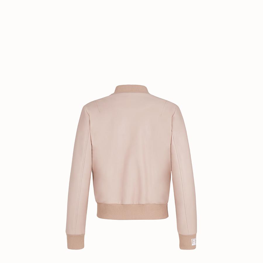 FENDI JACKET - Pink leather jacket - view 2 detail