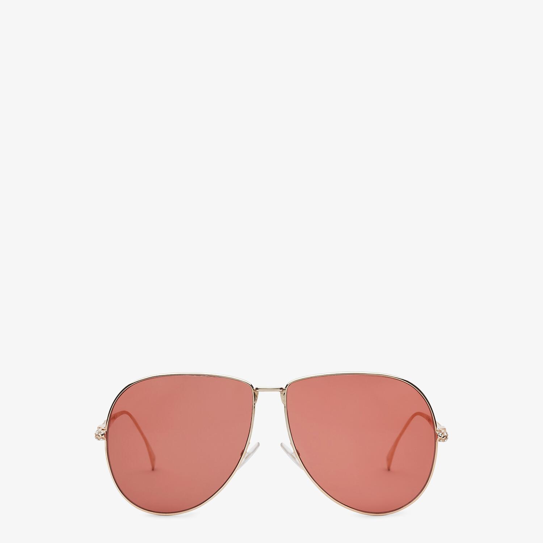 FENDI BAGUETTE - Rose-gold-colored sunglasses - view 1 detail