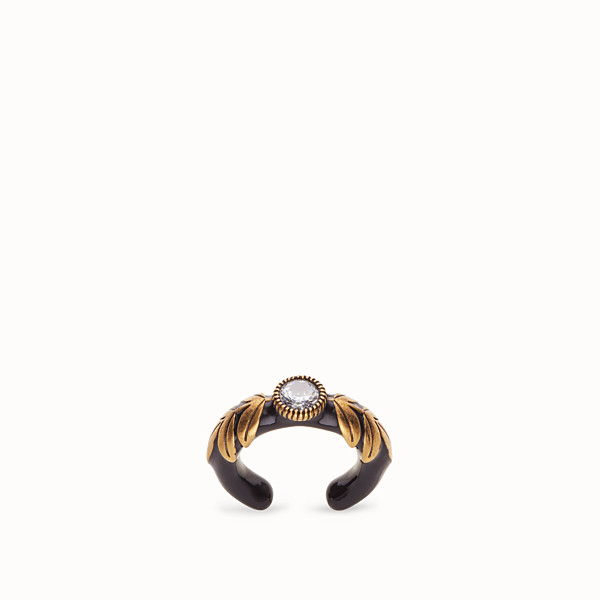 FENDI JULIUS CAESAR RING  - Ring in Gold und Schwarz - view 1 small thumbnail