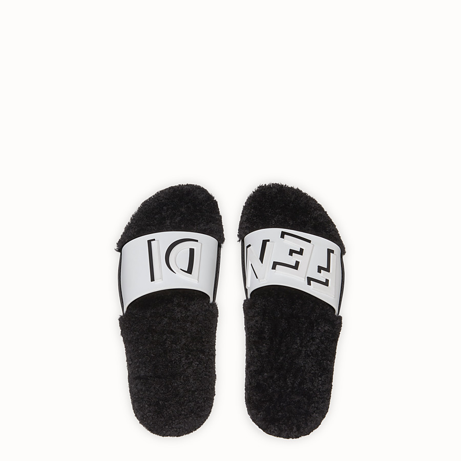 FENDI SLIDES - White PU slides - view 4 detail