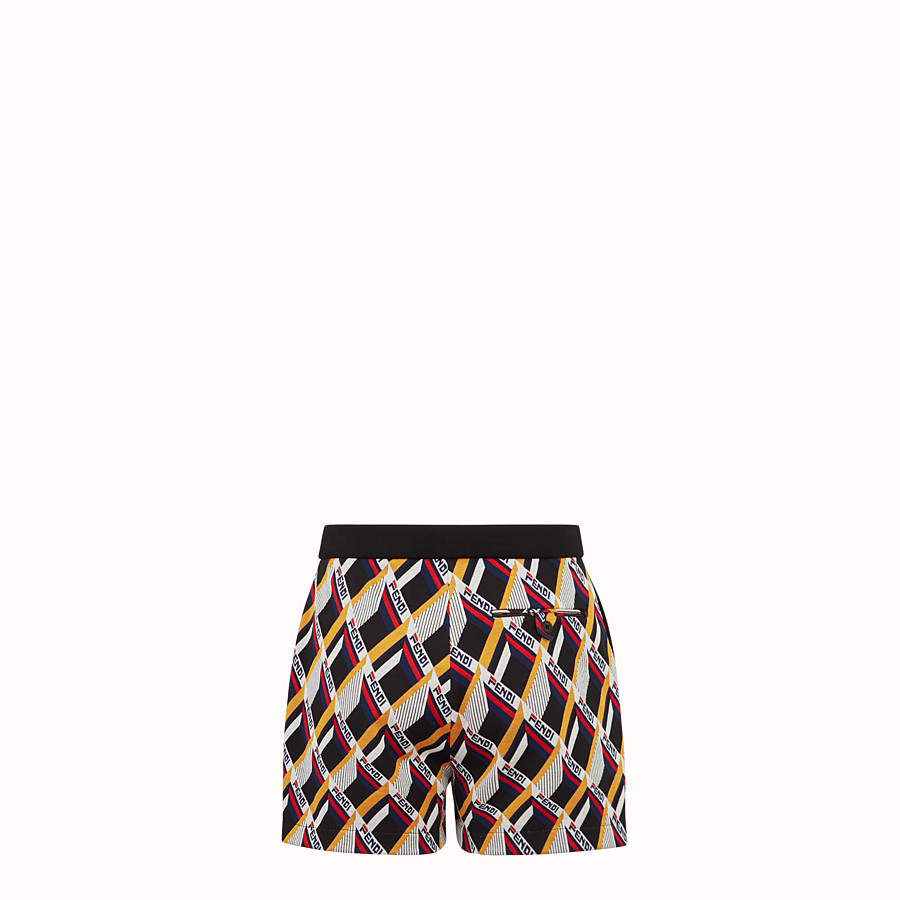 FENDI TROUSERS - Multicoloured tech fabric swimsuit - view 2 detail