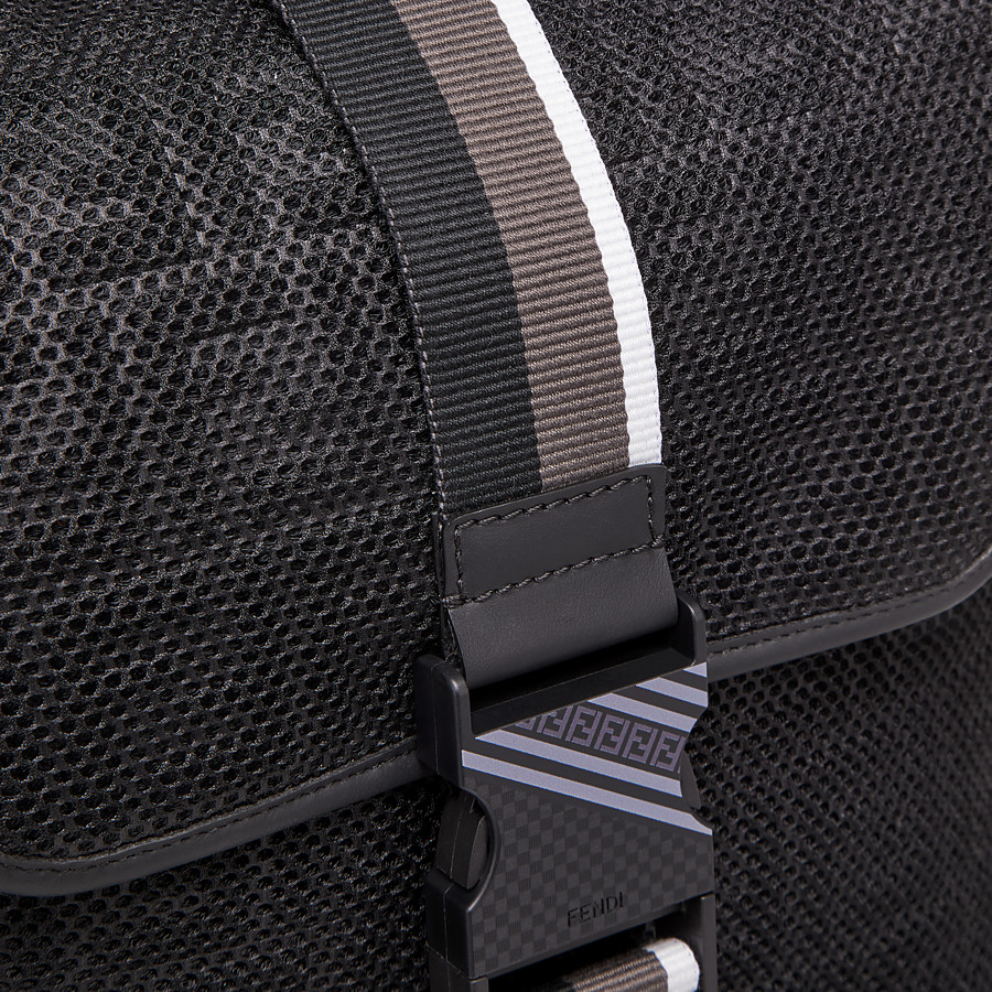 FENDI BACKPACK - Black mesh backpack - view 4 detail