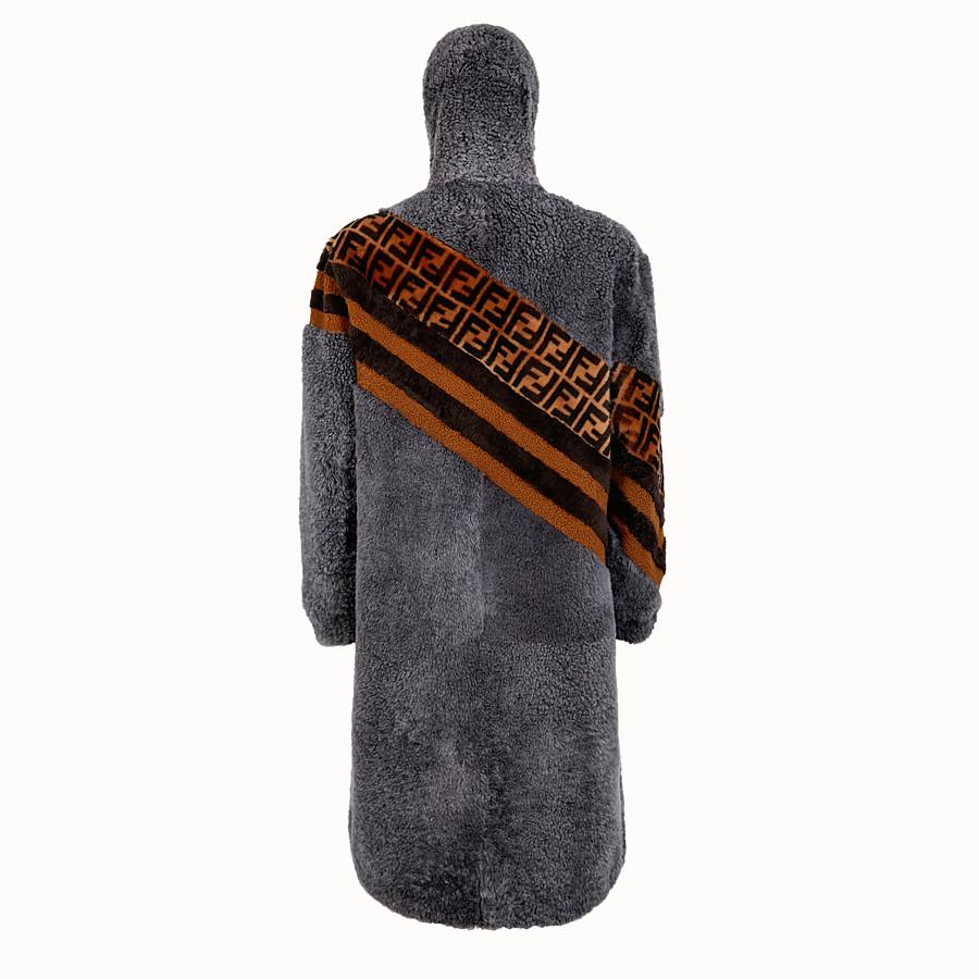 FENDI 連帽外套 - 灰色羊皮連帽外套 - view 2 detail