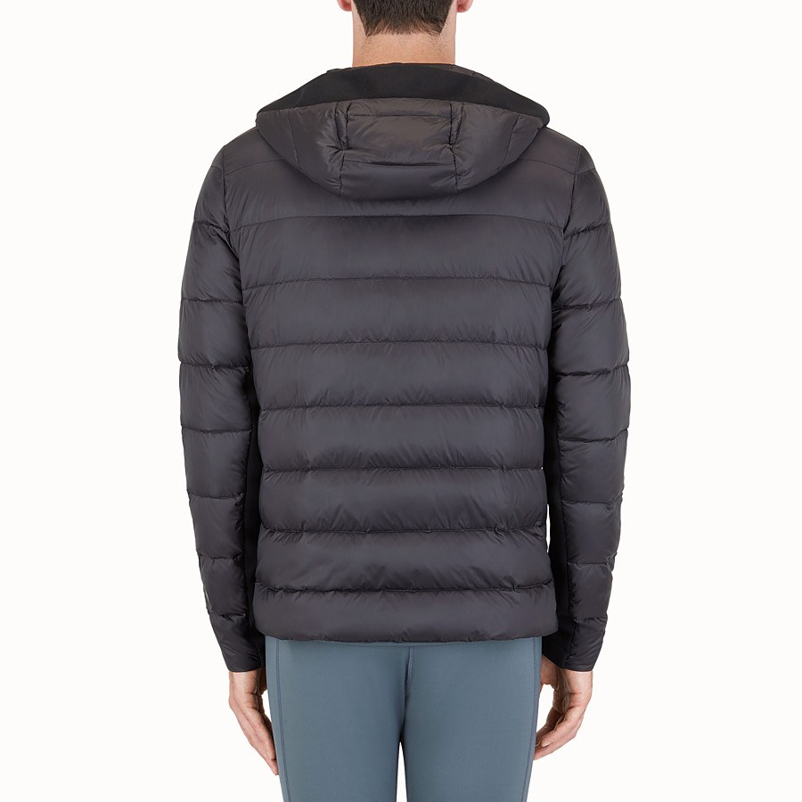 FENDI DOWN JACKET - Jersey and technical down jacket - view 2 detail