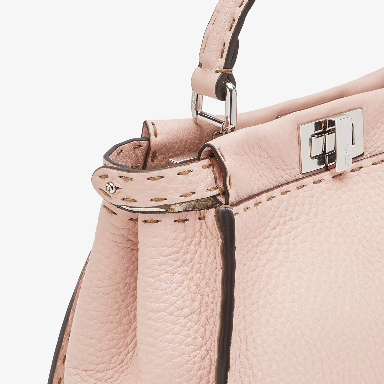 FENDI PEEKABOO ICONIC MINI - Pink leather bag - view 5 detail