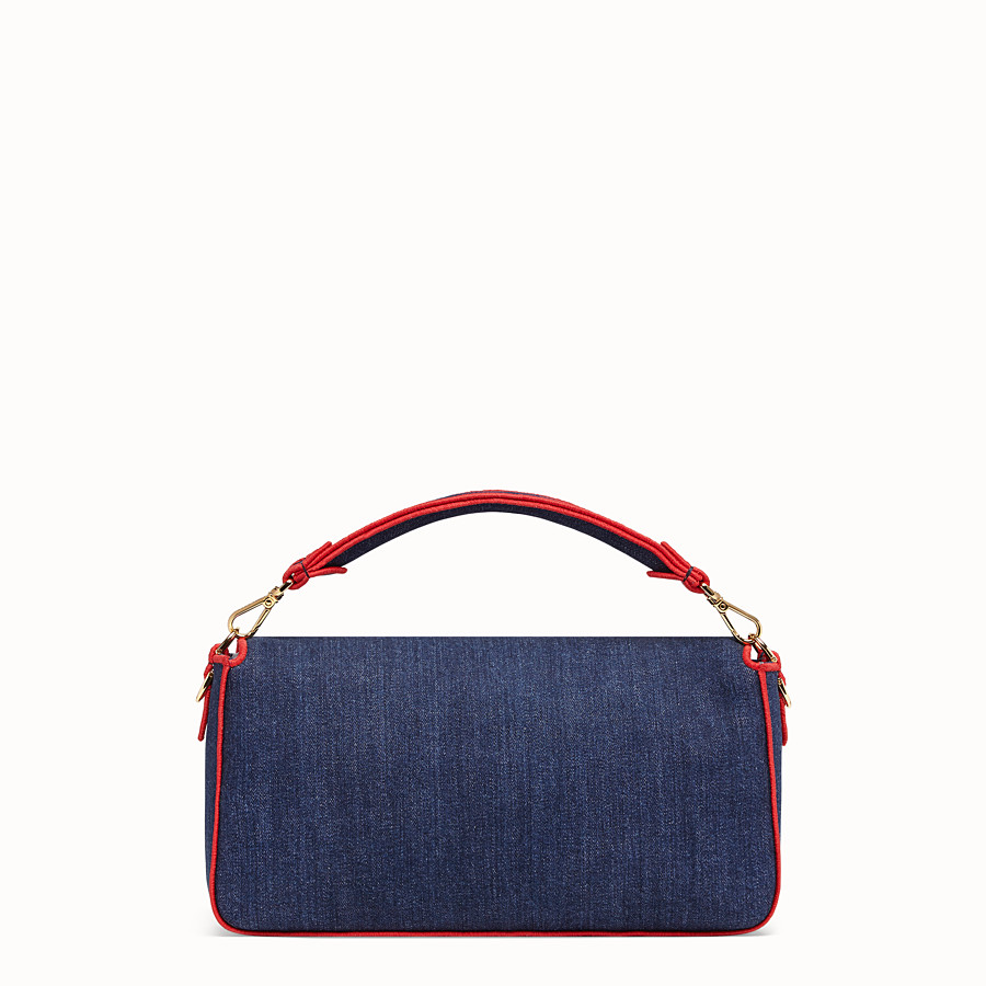 FENDI BAGUETTE LARGE - Bolso de denim azul - view 4 detail