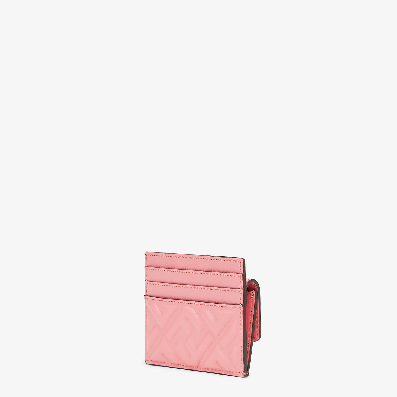 FENDI CARD HOLDER - Pink leather cardholder - view 2 detail